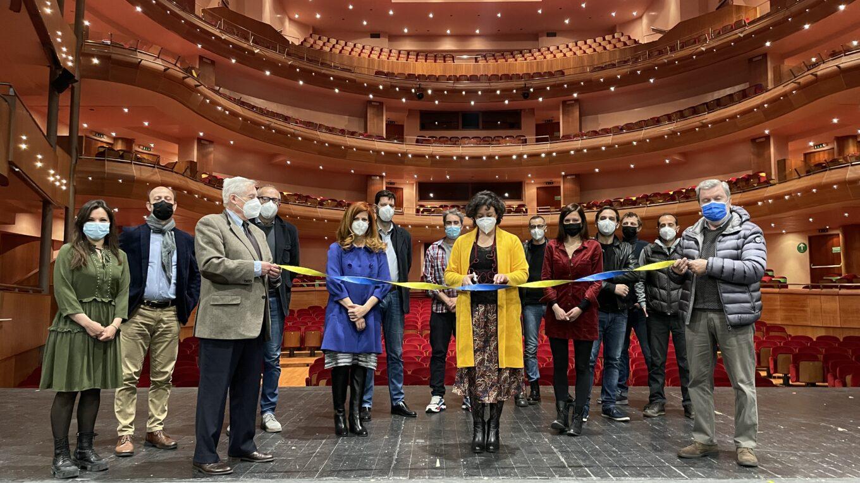 L'inaugurazione della ripresa delle prove con i Presidenti Nistri e Zanon