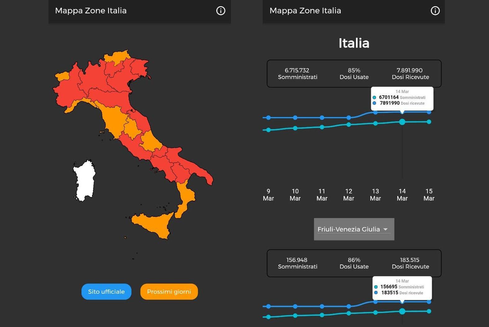 mappa zone 1a